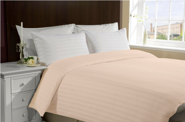 Queen/Full Size 300TC 100% Cotton Duvet Cover- Peach
