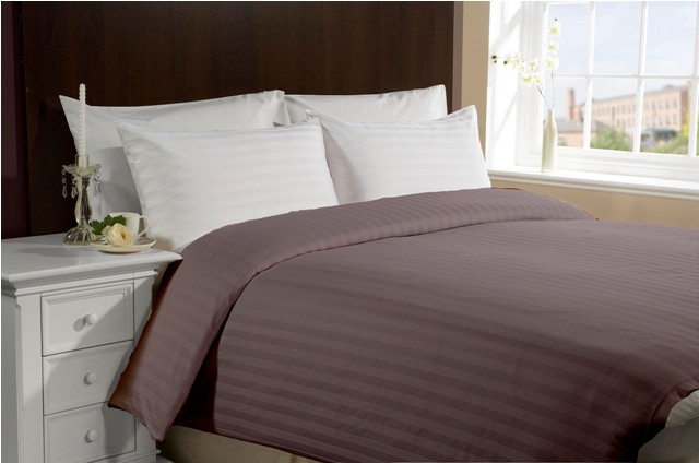Queen/Full Size 300TC 100% Cotton Duvet Cover- Purple