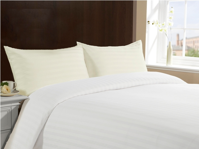 Standard Size 100% Cotton Pillow Cases - Ivory