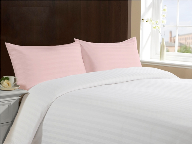 Queen Size 100% Cotton Pillow Cases - Pink
