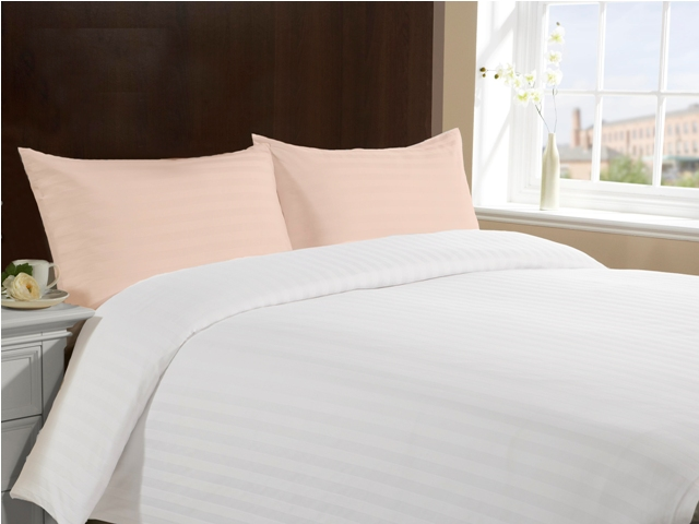 Queen Size 100% Cotton Pillow Cases - Peach