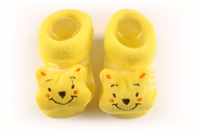 Lasin Baby Girl Cartoon Anti-slip Socks - Bear (0-12M)