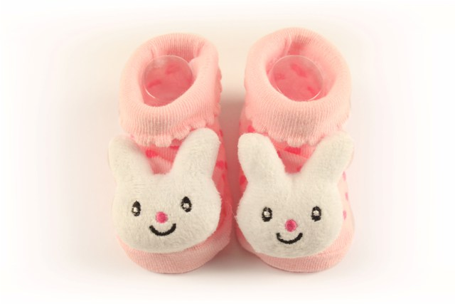 Lasin Baby Girl Cartoon Anti-slip Socks - Rabbit (0-12M)