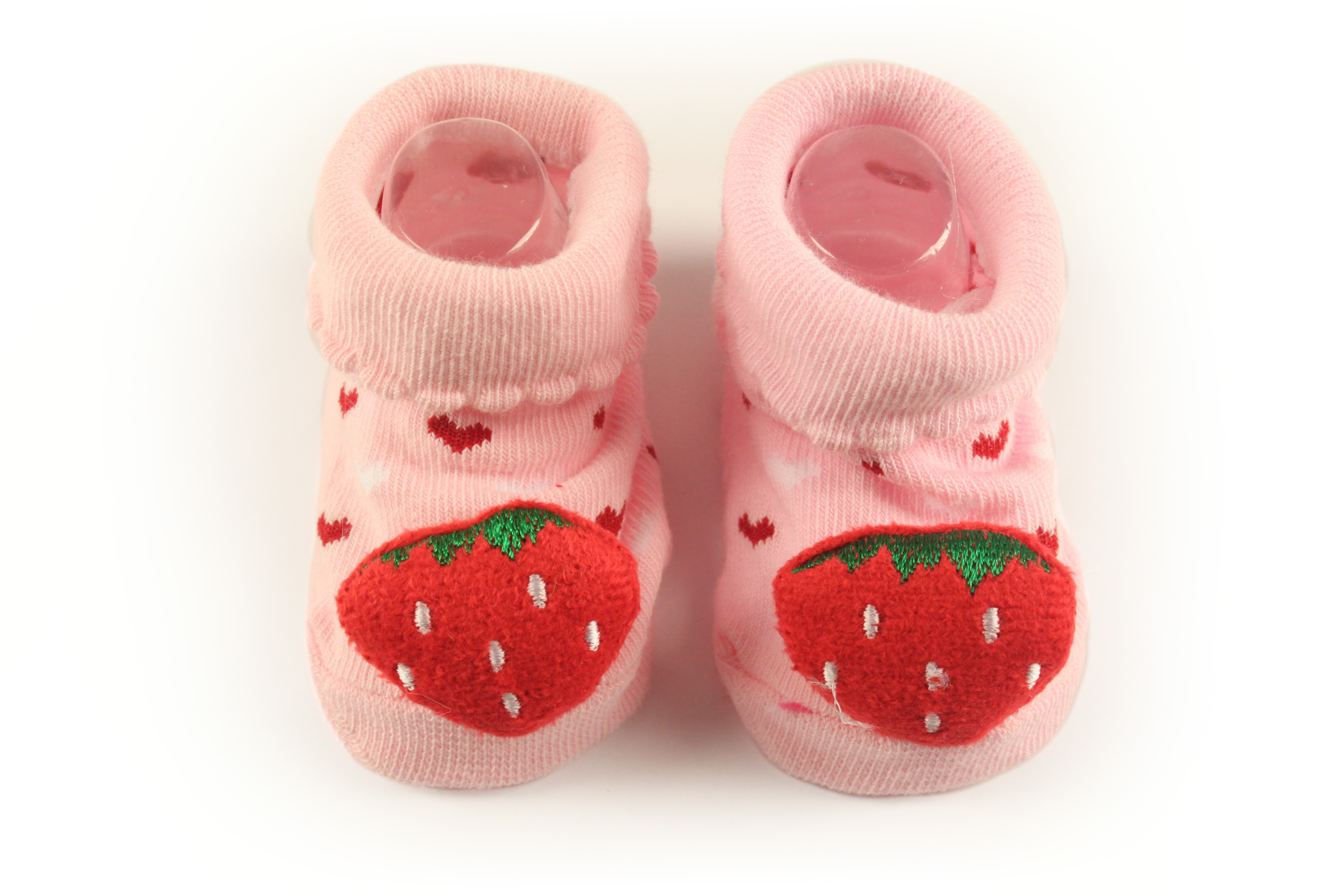 Lasin Baby Boy Cartoon Anti-slip Socks -Strawberry (0-12M)