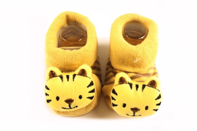 Lasin Baby Boy Cartoon Anti-slip Socks - Tiger (0-12M)
