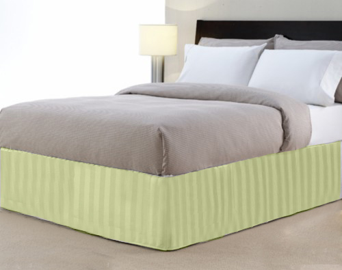 Queen 14-Inch Bed Skirt 100% Cotton - Green
