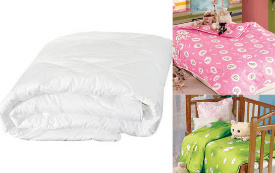Infant / Baby Size Silk-Filled Comforter Set - 3-piece - Click Image to Close